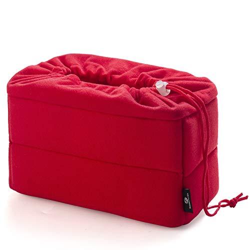 Koolertron 一眼レフ対応 インナーカメラバッグ「そのままバッグに入れられる」インナーバッグ/インナーケース 自由に調節可能な間仕切り付きでしっかり収納&ホコリをガード (レッド)
