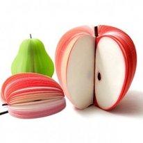 【 デスクを彩る オシャレメモ紙 】 立体 3D フルーツメモ帳 7個セット 付箋 網ネット付き SD-FM