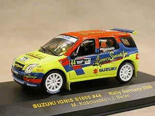イクソ 1/43 スズキ イグニス S1600 No.44 (RALLY GERMANY 2006)