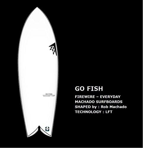 FIREWIRE SURFBOARDS GO FISH LFT  Rob Machado DESIGN ファイヤーワイヤー サーフボード ムーンウォーカー ロブマチャドデザイン 日本正規品 (クリアー, 5'7' 201/2' 25/16')