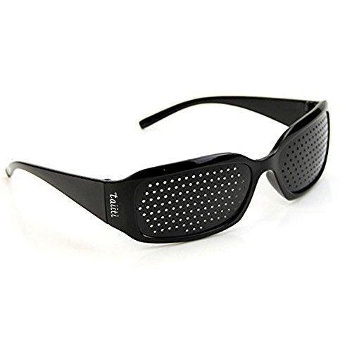 ピンホールメガネ 視力回復 【近視 遠視 老眼 乱視の改善】 フリーサイズ 男女兼用 眼筋力 アップ