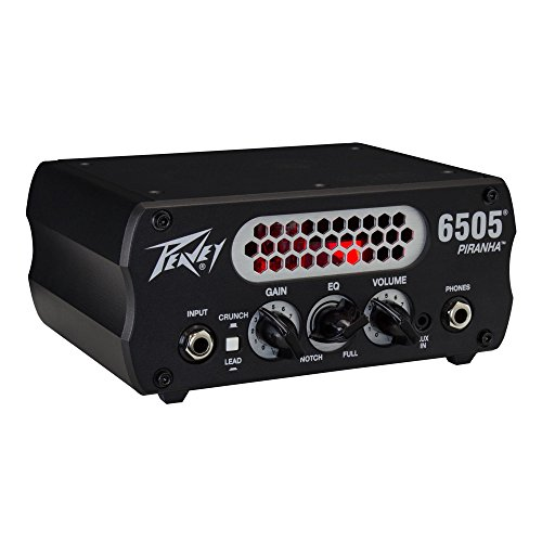 PEAVEY 6505 Piranha ギターアンプヘッド【国内正規品】 【440g~】超小型アンプ特集!小さく持ち運びも楽で良い音のする安い小型ヘッドアンプ!