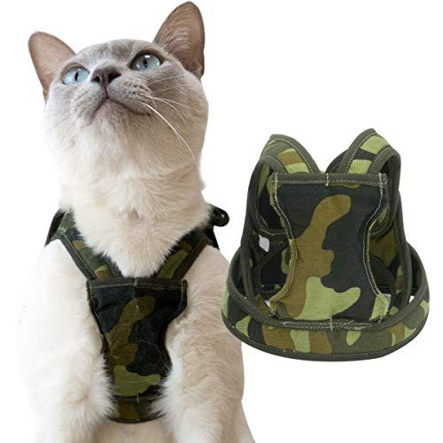 猫 ハーネス ダブルブロックタイプ アニマルシリーズ LLサイズ ゴロにゃんオリジナル 迷彩柄 LLサイズ