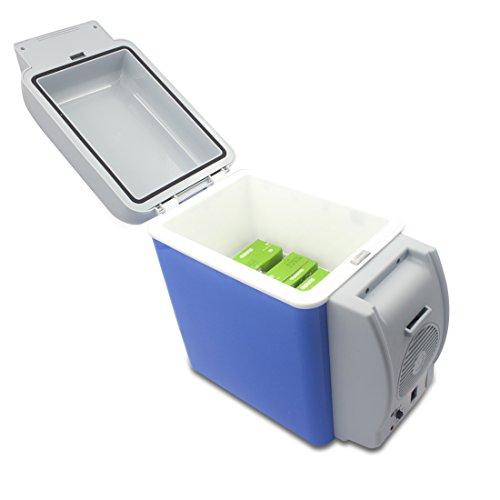 YOMYM ポータブル 冷温庫 小型 7.5L ミニ冷蔵庫 車載用 ドリンクホルダー付き