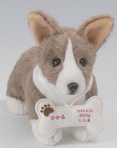 我が家の愛犬をお写真から再現★オリジナルドック・コーギー(1体) フルオーダー品おしゃぶりボーンに刺繍入り 【犬 ウェルカムドッグ・ウェイトドール】