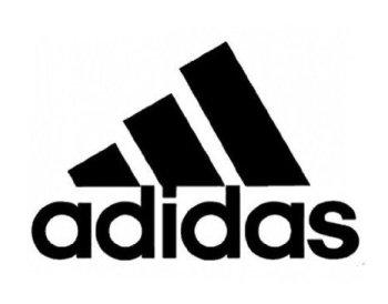 Adidas アディダス  ロゴ マーク ステッカー シール (デカール) ブラック