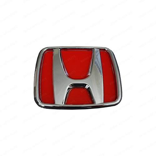 Bross BSP832 Badge Emblem For Honda Civic Accord Odyssey Type-R Red 75700-S5T-E11 Size 123 x 100 mm