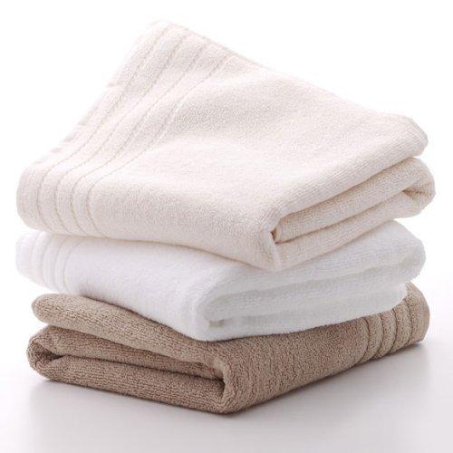 アイボリーのバスタオルは使い心地が満点で自分では買えないバスタオル