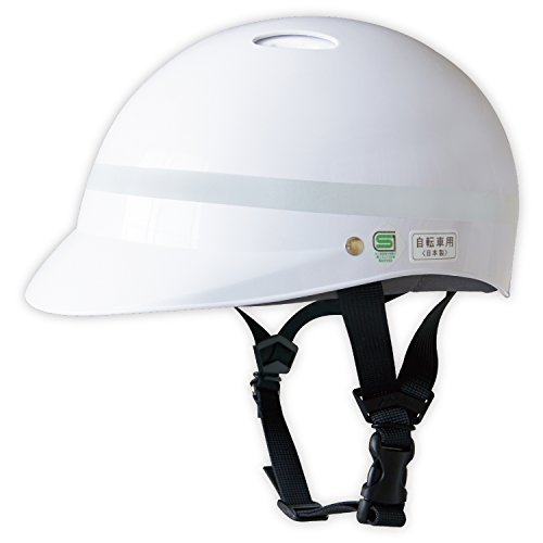 SANADA(サナダ) ヘルメット MACH(マッハ)通学・通勤・自転車用ヘルメット JJ-1(シルバー反射テープ巻)Mサイズ(57〜58cm)