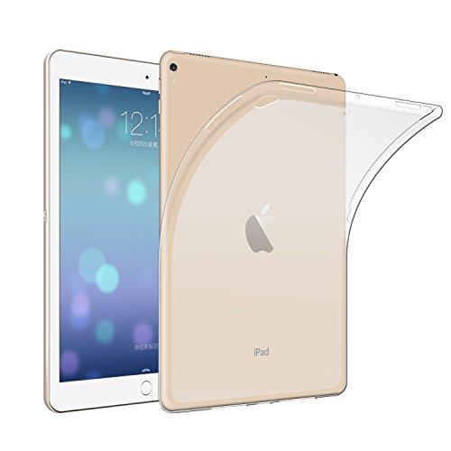 Qosea iPad Pro 10.5 ケース iPad Pro 10.5 2017 カバー 高品質TPU シリコン ケース 落下防止 衝撃吸収 防指紋 超薄型 軽量TPU素材 ケース (iPad Pro 10.5 2017, 透明)