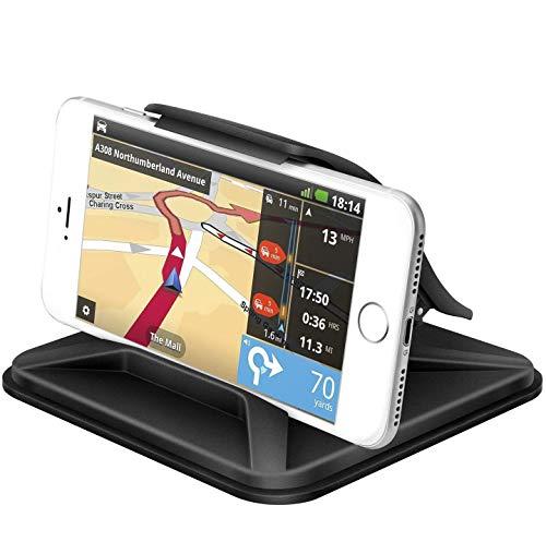 Vansky スマホ車載ホルダー 【一年保証】車載ホルダー クリップ式 スマホホルダー スマホスタンド カーホルダー ゲル吸盤式 着脱簡単 落下防止装着 角度調整可能 iPhone/Android 6.5インチまで多機種対応