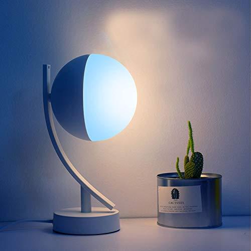 JIAJIA 寝室のRGBW照明wifiアンチブルーライト無料調整カラーワイヤレスインテリジェントリモートインテリジェントスピーカーデスクランプ月面卓上スタンド クリエイティブ