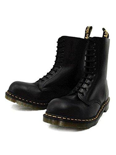(ドクターマーチン) Dr.Martens 1919Z 10EYE STEEL TOE BOOTS 10ホール スチール入り ブーツ BLACK ブラック UK8(約27cm)