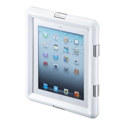 サンワサプライ iPad/iPad2 防水ハードケース ホワイト PDA-IPAD313W