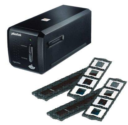 Plustek OpticFilm 8200iAI + 追加フォルダーセット 赤外線ゴミチェック機能(iSRD)付 高解像度フィルムスキャナー 白色LED採用 7200x7200dpi USB接続 OpticFilm8200iAI