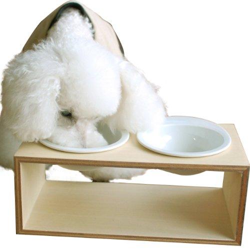iDog Living Keatキートスクエア2 Lサイズ フードボウル別売 ナチュラル L 犬 食器台