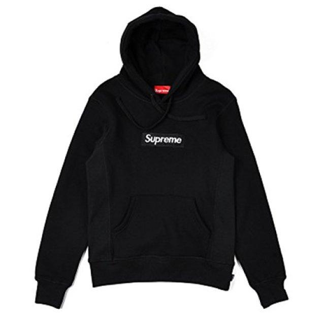 SUPREME(シュプリーム) Box Logo  ボックスロゴパーカー トレーナー スポーツウェア スウェット  (XL, ブラック) [並行輸入品]