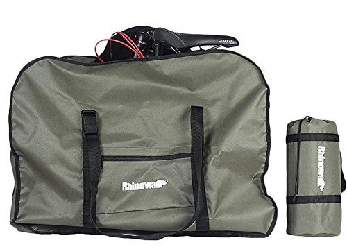 Rhinowalk 折りたたみ自転車 収納 バッグ 14〜20インチ対応 専用ケース付き 輪行バッグ 輪行袋 サイクリング ツーリング 持ち運び 便利 グリー ン