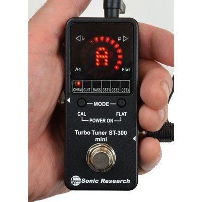 ソニック リサーチ ST-300 Mini ストンプボックス ストロボ チューナー Sonic Research ST-300 Mini Stomp Box Strobe Tuner [並行輸入品] 【1,699円~!】小さくて安いチューナー特集!エフェクターボードに邪魔にならないコンパクトなミニサイズのオススメペダル型チューナー!