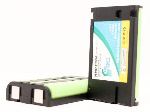 2xパック - Panasonic KX-TG5212 互換バッテリー : Panasonic HHR-P104 電話 バッテリー対応 800mAh 3.6V ニッケル水素