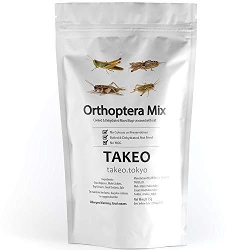 TAKEO 国内正規品 そのまま食べれる昆虫食 バッタ目ミックス