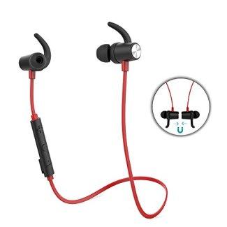 dodocool 磁気ワイヤレスステレオスポーツイヤホン Bluetooth4.1イヤホン APT-X高音質 CVC 6.0ノイズを防ぎ HDマイク付き ワイヤレス イヤホン スポーツ仕様 技適認証済