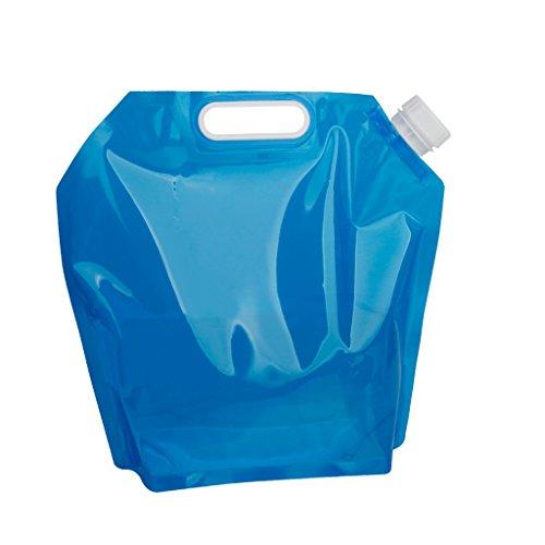 5ℓ も入る 折りたたみ ポータブル 5L水袋 非常用給水袋 コンパクト 持ち運び便利 アウトドア バーべキュー 災害等 防災グッズ 使わない時は小さくできて邪魔にならない キャンプの時の水入れにも活躍