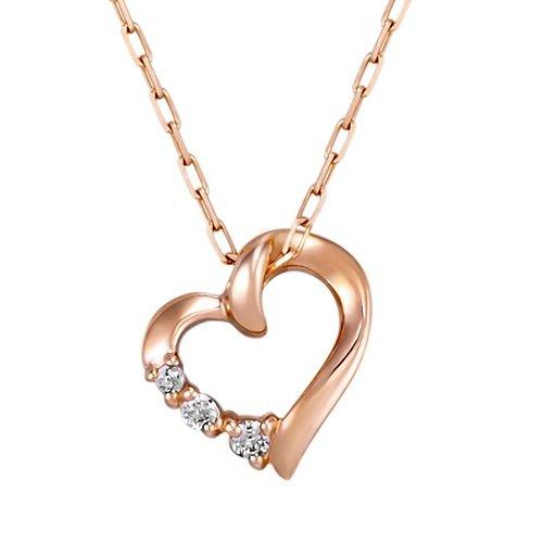 4℃(ヨンドシー)ダイヤモンドK10ピンクゴールド(PG)ネックレス 111636123116