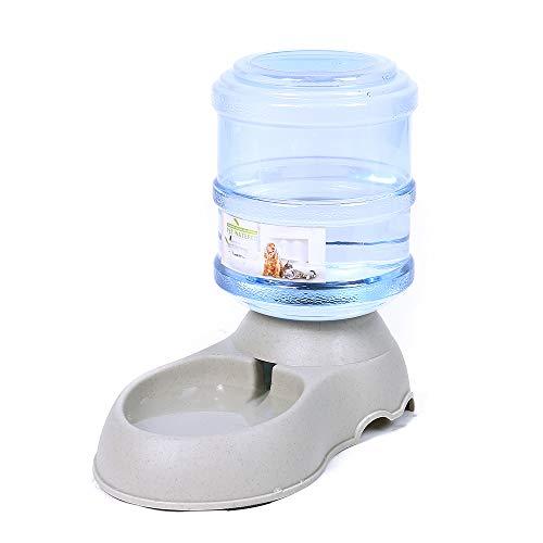 PAWZ Road ペット用品 猫 犬用 自動給水器 3.75L 水飲み ペットボトル 自動補給 旅行 外出 給水タンク グレー