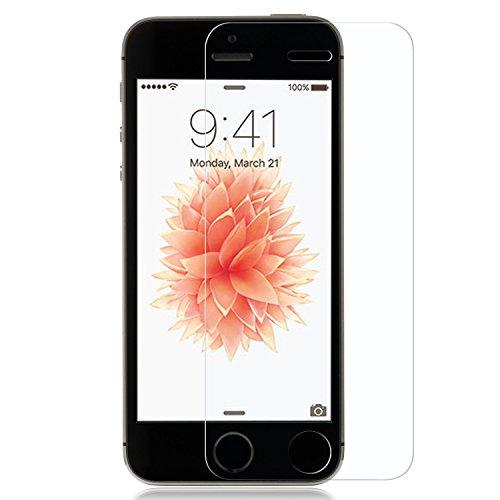 NIMASO iPhone SE / iPhone 5S / iPhone5 / iPhone5c 専用 旭硝子製 強化ガラス 全面液晶保護フィルム 高鮮明・防爆裂・スクラッチ防止・気泡ゼロ等機能・硬度9H