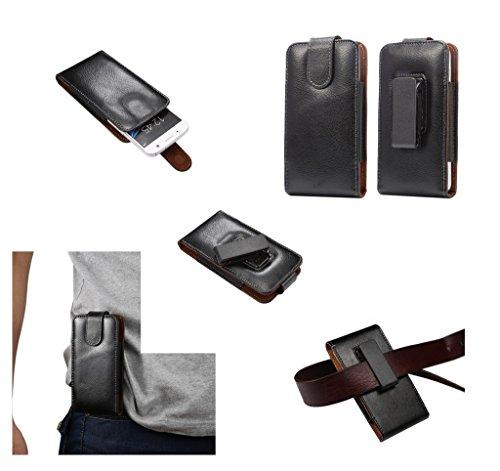 DFV mobile - 磁気革ホルスターケースベルトクリップ回転360° =?SAMSUNG GALAXY S4 MINI PLUS  黒