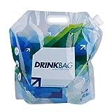 Eboxer 水容器 水袋 折り畳み式 携帯型  ウォーターバッグ  災害 防災 非常用給水袋 緊急用 貯水 大容量 10L 持ち運び便利 透明 安全 健康