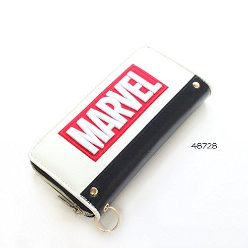 (財布)MARVEL マーベル 合皮財布(白/黒)