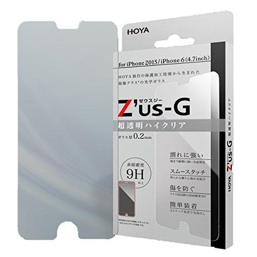HOYA Zus-G ゼウスジー for iPhone6s ハイクリア ガラスフィルム 【0.2mm】 【全面強化】 【アルミノシリケートガラス】 耐衝撃 表面硬度9H 指紋・汚れ防止コート 気泡レス 液晶保護