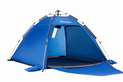 KingCamp テント ワンタッチ フルクローズ 5秒簡単設営 ツーリングテント 軽量 3~4人用 ポップアップテント メッシュ 二層構造 折りたたみ 運動会 アウトドア 防災用品 KT3082 3カラー