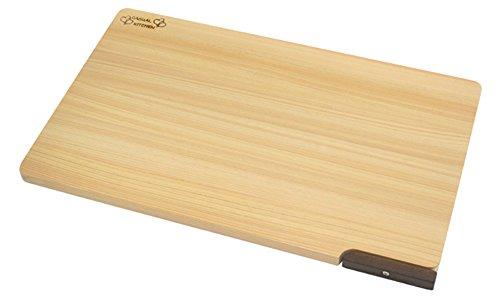 ダイワ産業 まな板 木製 ひのき 食洗機対応 軽量 【スタンド付き】 39cm