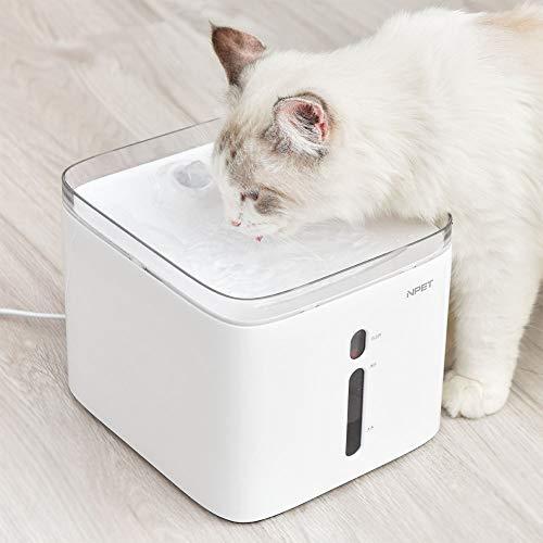 【2019年最新型】 NPET ペット自動給水器 WF020 猫/中小犬用 活性炭フィルター循環式 2.5L