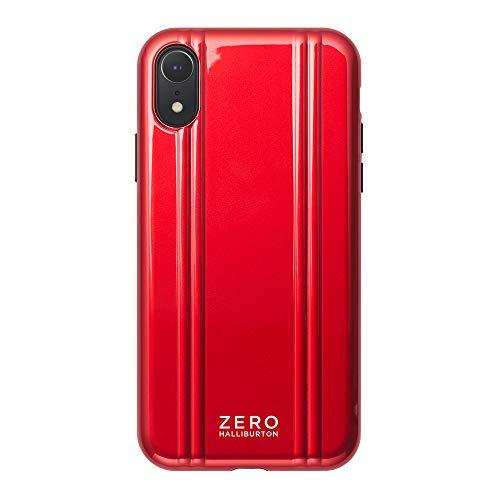【iPhoneXR ケース】ZERO HALLIBURTON(ゼロハリバートン) Hybrid Shockproof case for iPhoneXR 新型iPhone スマホケース 米軍MIL規格取得 耐衝撃 (Red レッド)