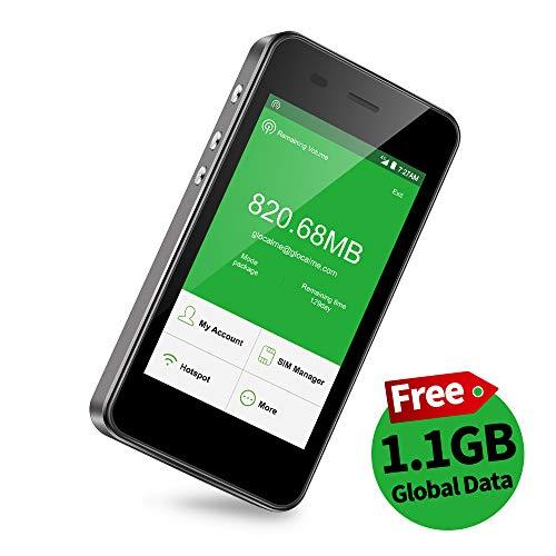 【公式販売】GlocalMe G3 モバイルWiFiルーター simフリー 1.1ギガ分のグローバルデータパック付け 4G高速...