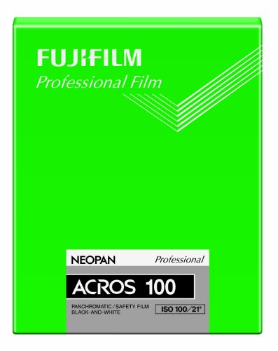 FUJIFILM 黒白ネガフイルム ネオパン 100 ACROS シート 20枚 CUT ACROS100 NP 4X5 20