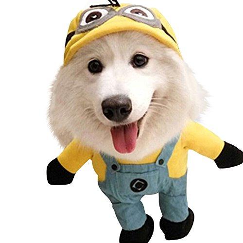 ドッグウェア 変身服 犬コスプレ 犬服のトレーナー コスプレペット服 スコスチューム 16種類 変身服 XS->XL サイズ【Justgreat】(サロペット,M)