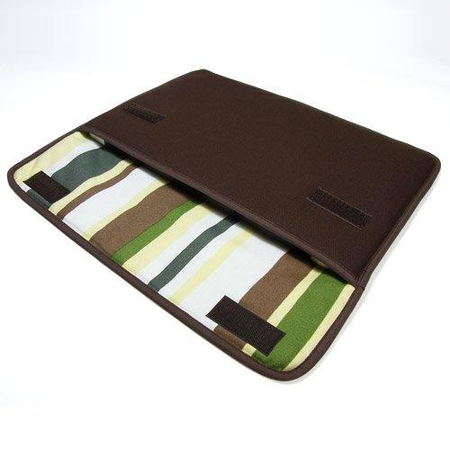 suono(スオーノ) ハンドメイド MacBook Air ケース 11インチ用:FILO(ココア・カーキストライプ)