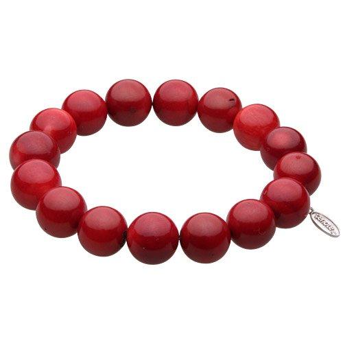 【セノーテ】 cenote t1225 【パワーストーン アクセサリー】 赤珊瑚12mm玉ブレスレット 【23cm 内周19cm】