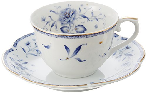 NARUMI ペレーネブルー ティーコーヒー兼用カップ&ソーサー(5客)210cc 40721-32403
