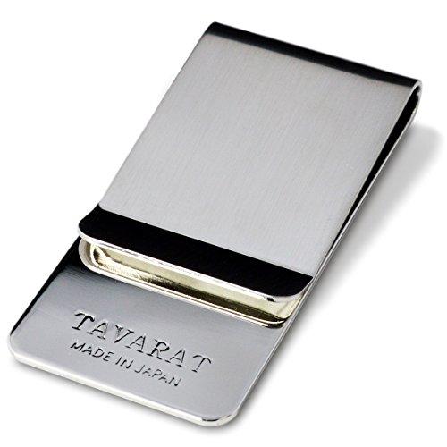 (タバラット)TAVARAT 日本製 マネークリップ 【 真鍮製 サテーナ加工 】 (シルバーサテーナ) Tps-006_svt