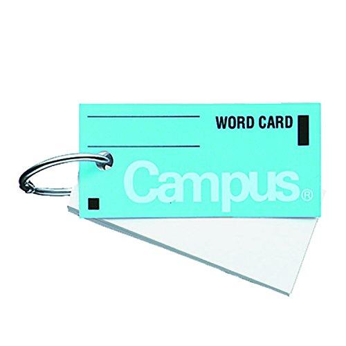 コクヨ キャンパス 単語カード カードリングとじ サイズ中 85枚 青 タン-101B