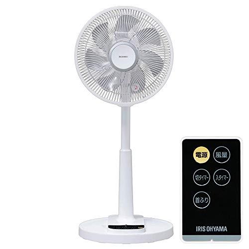 アイリスオーヤマ 扇風機 リビング扇風機 首振り 風量4段階 静音 DCモーター タイマー付 リモコン付 ロータ...