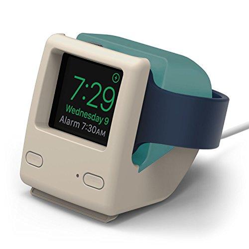 elago Apple Watch スタンド W4 STAND series2 / series1 42mm / 38mm 対応 シリコン製 レトロデザイン 充電 スタンド [ アップルウォッチ 各種対応 ] アクアブルー
