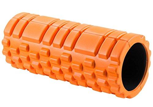 Flexyness®高品質のフォームローラ - (Foam Roller) - ヨガ、ストレッチ、こり解消、筋トレ、柔軟、筋力アップ、姿勢改善など - 説明書付き - (オレンジ色)