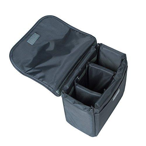 撮影の世界 カメラケース インナーソフトボックス 撮影用品収納 防水 防振加工 カメラポーチ カメラバッグ (ブルー L)